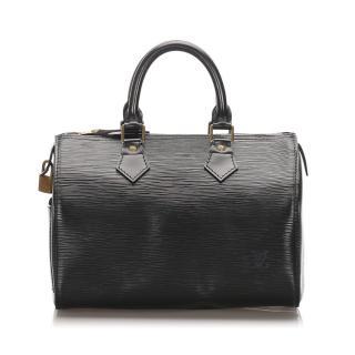 Louis Vuitton Epi Leather Black Speedy 25