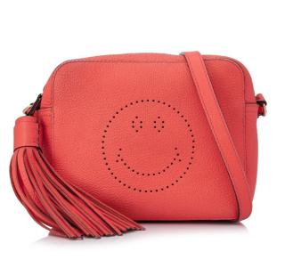 Anya Hindmarch Smiley Leather Crossbody Bag
