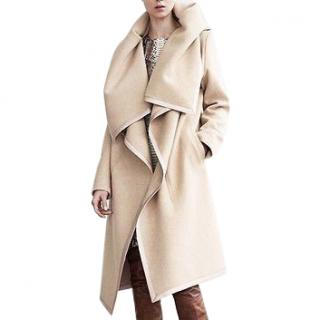 Maison Margiela Beige Oversize Cashmere Blend Blanket Coat