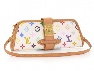 Louis Vuitton White Monogram Multicolor Shirley Pochette Bag
