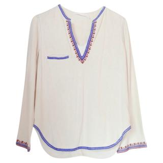 Isabel Marant Etoile Embroidered Cream Tunic