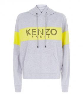 Kenzo Grey & Yellow Logo Hoodie