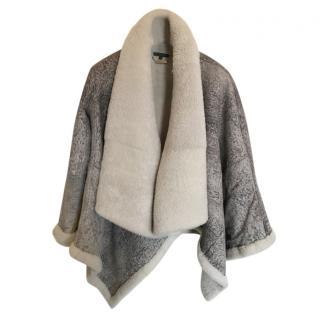 Alexander McQueen draped shearling coat