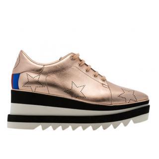 Stella McCartney Rose Gold Selyse 75 platform sneakers