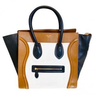 Celine Tri-Colour Mini Luggage Tote