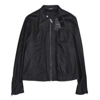 Dolce & Gabbana Men's Black Leather Jacket