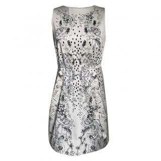 Matthew Williamson Pearl Grey Floral Print Dress