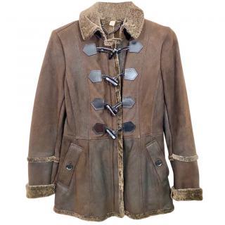 Burberry Brown Shearling Coat