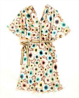 Missoni Flower Print Silk Twill Dress