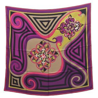 Pucci Silk Multicoloured Printed Scarf