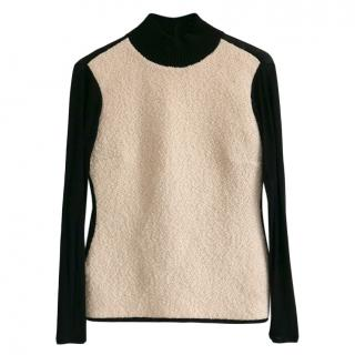 Balenciaga Wool & Jersey Double Sided Top