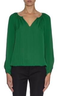 Diane Von Furstenberg green Hathaway Blouse Top