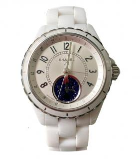 Chanel White Ceramic J12 Moonphase Watch
