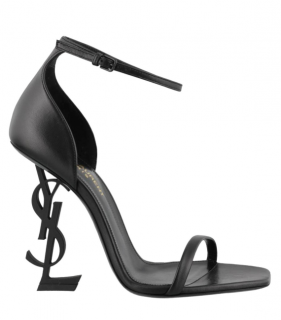 Saint Laurent Black Calfskin Opyum Sandals