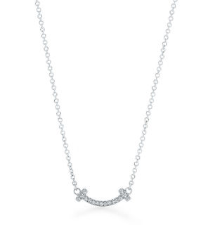 Tiffany T Smile Pendant Diamond Necklace