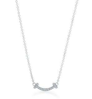 Tiffany T Smile Pendant Diamond Necklace