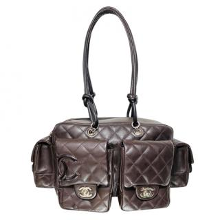 Chanel Brown Leather Cambon Reporter Bag