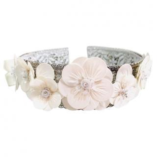 Dolce & Gabbana Floral Embroidered Headband