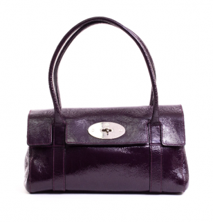 Mulberry East West Aubergine Small Bayswater