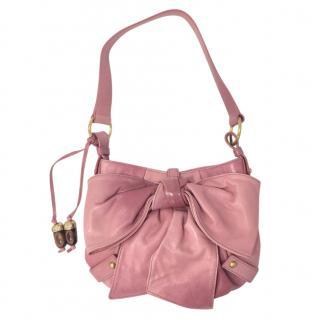 Yves Saint Laurent Pink Nappa Hobo Bag