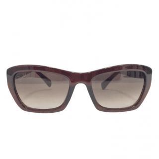 Emilio Pucci Brown Printed Sunglasses