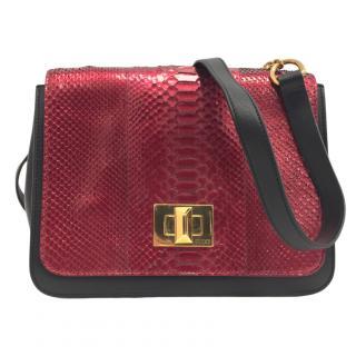 Emilio Pucci Red Python Marquise Bag
