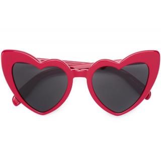 Saint Laurent Red Heart Shaped Loulou New Wave Sunglasses