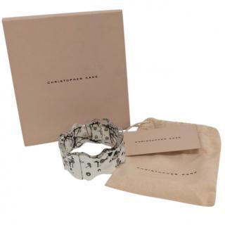 Christopher Kane Plexiglass Crystal Embellished Cuff