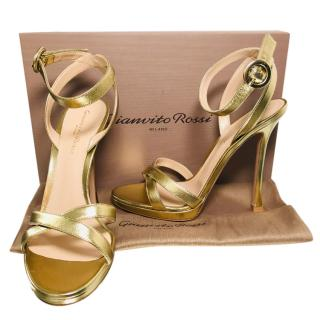 Gianvito Rossi Gold Platform Sandals