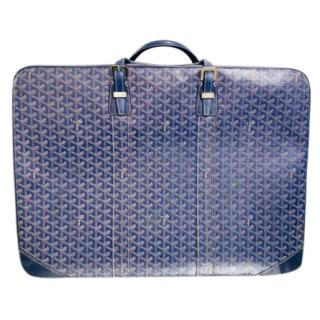 Goyard Majordome 60 Blue Chevron Travel Case