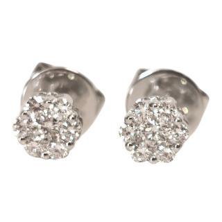 Cara 0.2ct Diamond Cluster White Gold Earrings