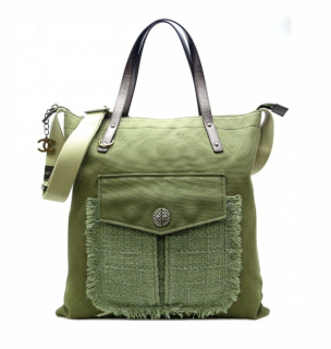 Chanel Cruise Collection Canvas & Tweed Tote Bag
