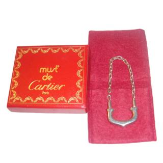 Cartier C Sterling 925 Silver Key Ring