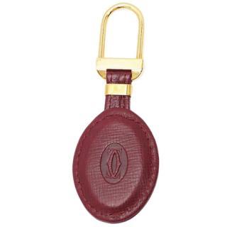 Cartier Bordeaux Must De Cartier Leather Key Charm