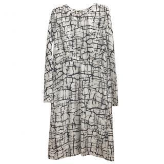 Marni Silk Marble Printed Dress