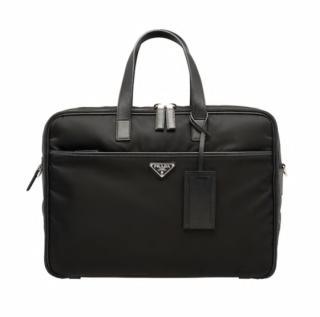 Prada Nylon Blue Laptop Bag