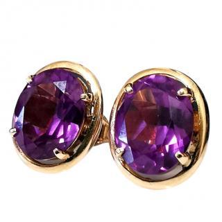 Bespoke vintage11mm Alexandrite in rose gold earrings
