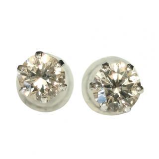 Bespoke Platinum Set Diamond Soliatire Earrings