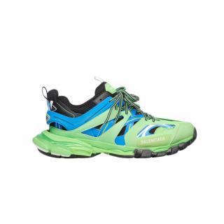 Balenciaga Blue/Green Track Sneakers