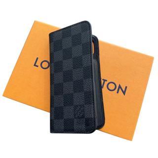 Louis Vuitton Damier Graphite iPhone X/XS Folio Case