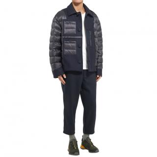 Moncler Padded Virgin Wool and Shell Down Jacket