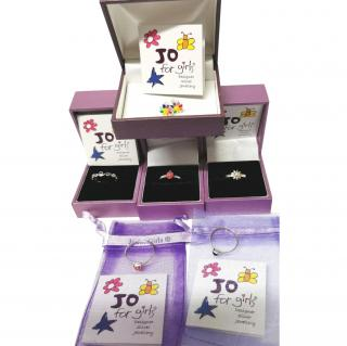 Jo For Girls Sterling Silver Ring & Earrings Collection