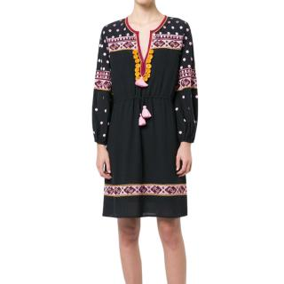 Figue Embroidered Black Savannah Dress