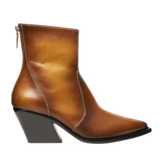 Givenchy Antique Tan Cuban Heel Ankle Boots