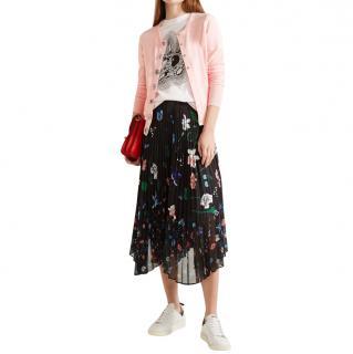 Markus Lupfer Floral Print Pleated Chiffon Skirt