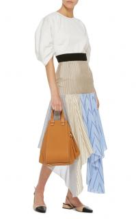 JW Anderson Patchwork Asymmetric Silk Blend Skirt