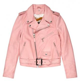 Schott Perfecto Leather Jacket in Pink