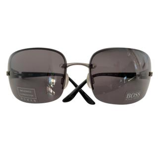 Hugo Boss Square Black Sunglasses