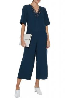 MiH Eva Navy Lace Trim Jumpsuit