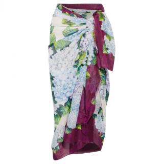 Dolce & Gabbana Hydrangea Hortensia sarong/scarf